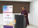 """Dr. Dayananda Borgohain, Chairman, Assam Higher Secondary Education Council delivering his speech on the topic """"New Education Policy and Primary Education"""""""