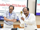 Director of Technical Education, Dr. Atul Bora felicitated by Prof. Dilip Chandra Nath, Vice-Chancellor, Assam University, Silchar