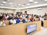 """Participants of the one-day symposium on """"Draft National Education Policy 2019 & New India"""" held at Center for Educational Technology, IIT Guwahati."""
